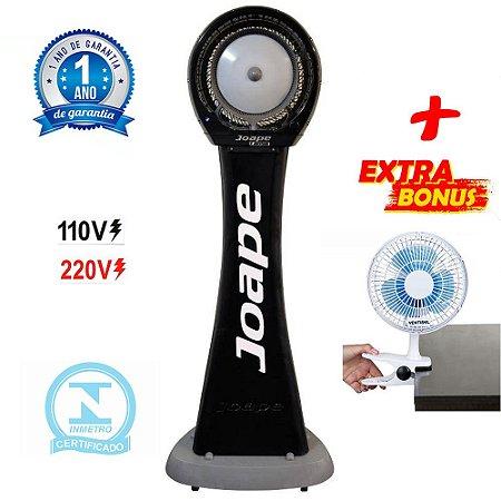 Climatizador Cassino Pedestal 2020 Marca Joape By Shoppstore + Brinde Mini Ventilador 20 cm Cor Preta
