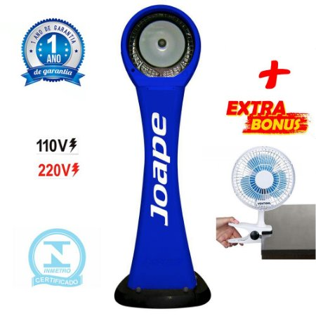Climatizador Cassino Pedestal 2020 Marca Joape By Shoppstore + Brinde Mini Ventilador 20 cm Cor Azul