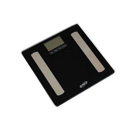 Balança de Bioimpedância Digital Analisador Corporal 150 kg G-Tech By Shoppstore® c/Indicador Excesso Peso