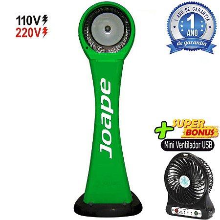 Climatizador Cassino Pedestal 2020-80lts Joape by Shoppstore Econômico/Potente Fluxo Ar 2.760m³/h Cor Verde