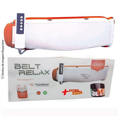 Combo Cinta Modeladora Vibratória 2021 Redutora Medidas Belt Relax® By Shoppstore Bivolt +Gel Lipo Redutor Mary Life®