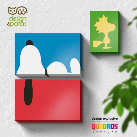 Kit de Quadros Snoopy