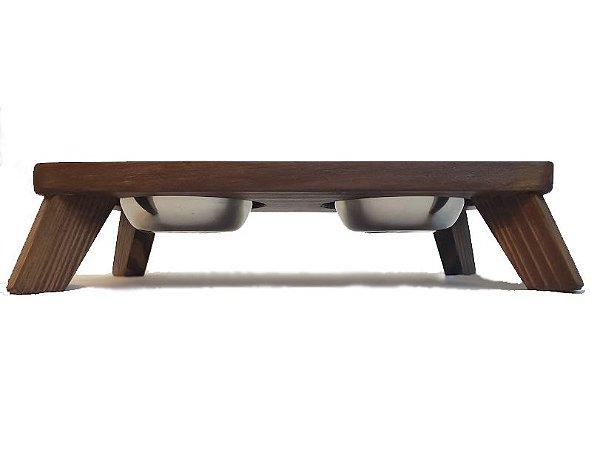 Bebedouro/Comedouro CRYSTAL em madeira