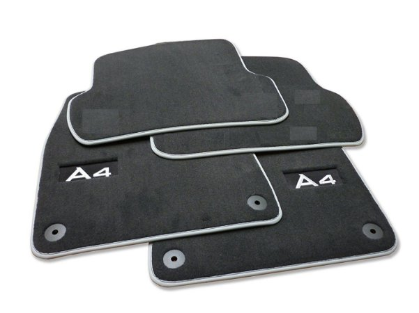 Jogo de Tapete Premium Floor Mats - A4 Avant / Sedan 2008 2016 / RS4 Avant 2008 2016