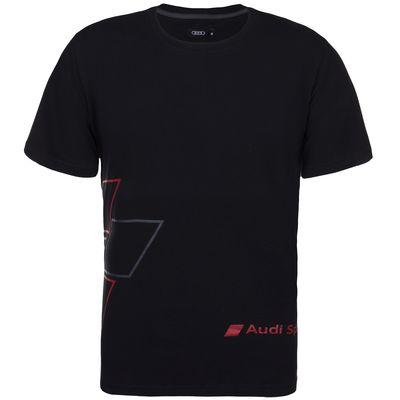 Camisa Audi Sport Preta Red Rhombus Masculina