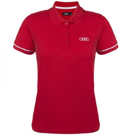 Camisa Polo -  Audi Collection -  Vermelha -  Feminina