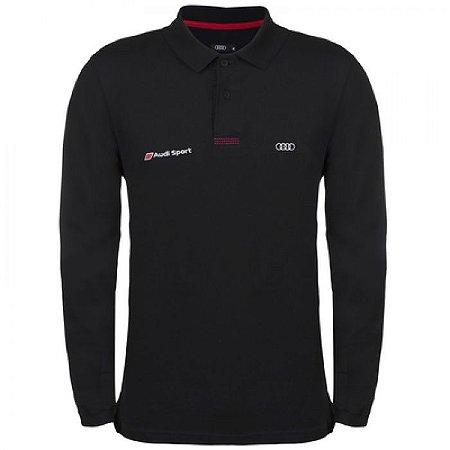 Camisa Polo Audi Sport Manga Longa Masculina