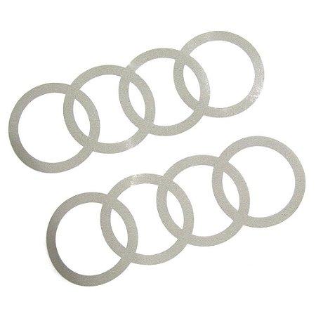 Adesivos Audi Argolas - Prata Florete