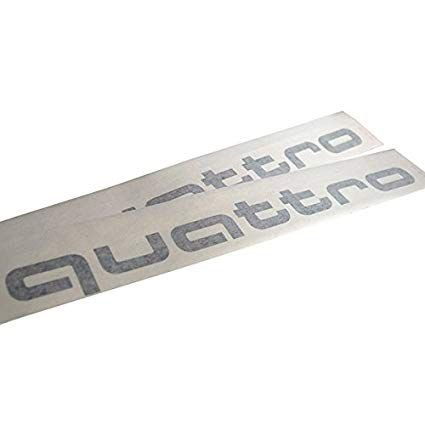 Adesivos Audi Quattro - Prata Gelo Metálico