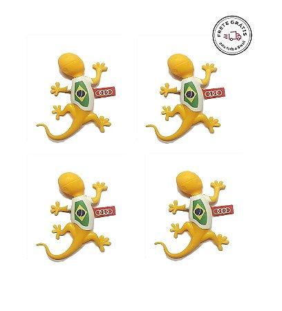 Kit Gecko Brasil - Aromatizador para Automóveis - Amadeirado
