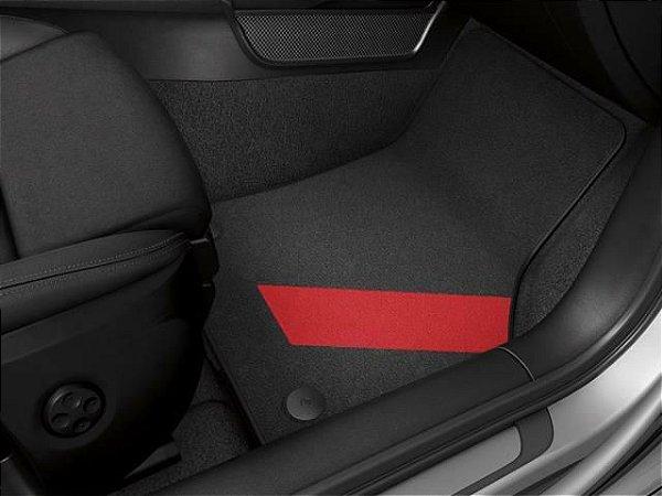 Jogo de Tapetes de Carpete - Red - A3 Sedan 2013 2020 / A3 Sportback 2013 2020