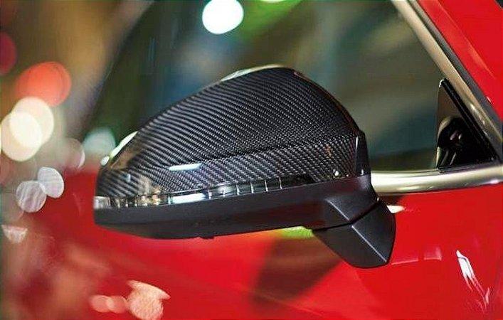 Capa de Carbono - Retrovisores - Lado Esquerdo - New Q3