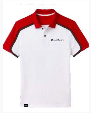 Camisa Polo Performance Audi Sport - Masculina - Branco - Vermelho