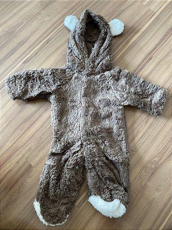 Macacão Plush ursinho marrom