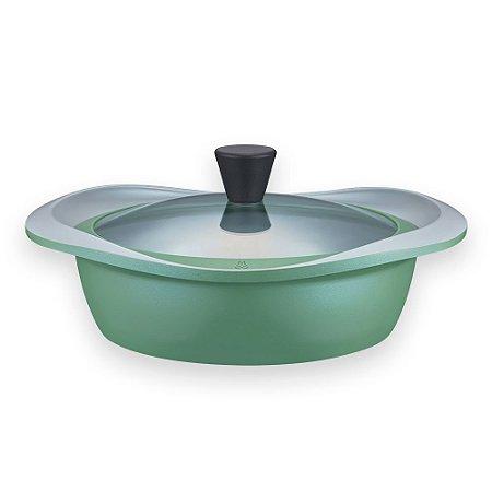 Caçarola Newtro Induction com Revestimento Cerâmico Natural - 24 cm - 2,7L - Verde