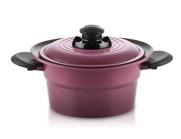Caçarola e Tampa Roichen Smart Pot com Revestimento Cerâmico Natural - 20 CM - 2,7L - Violeta