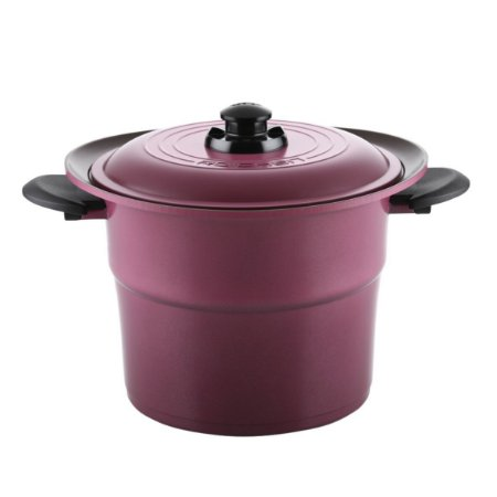 Caçarola Alta e Tampa Roichen Smart Pot com Revestimento Cerâmico Natural - 24 CM - 6,4L - Violeta