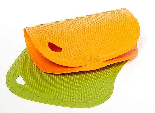 Conjunto de Tábuas de Corte Antibacterianas Get Essential - 2 un. - Verde e Laranja