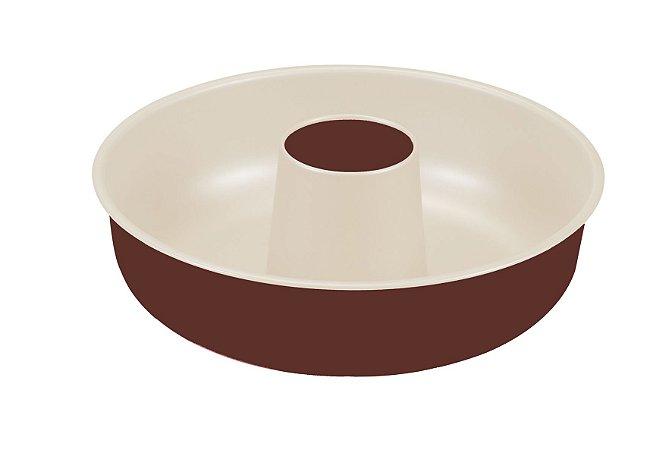 Forma de Bolo Redonda Guardini Chocoforme Antiaderente - 25cm - Chocolate