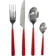 Faqueiro Kenya Slim - Vermelho - 25 peças