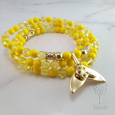 Guia Oxum   Porcelana e Cristal Amarelo