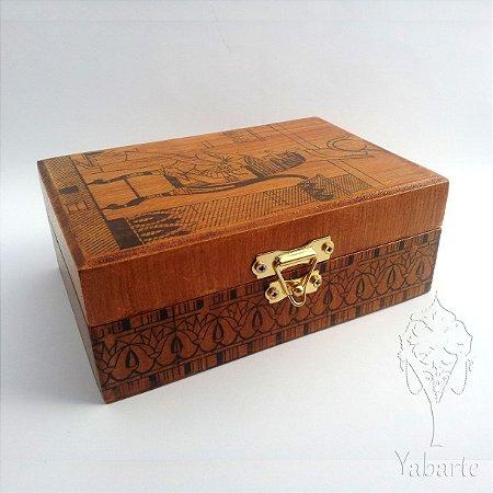 Porta Baralho - Caixa para Tarot Egípcio