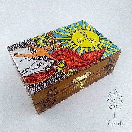 Porta Baralho - Caixa para Tarot O Sol