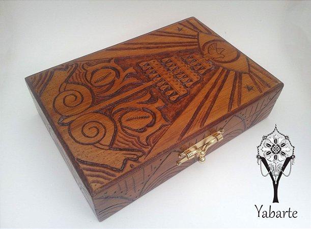 Caixa Oxalá - Porta Guias e Búzios (entalhada à mão)