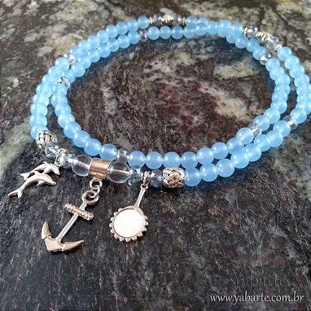 Guia de Yemanjá | Pedra Natural Azul
