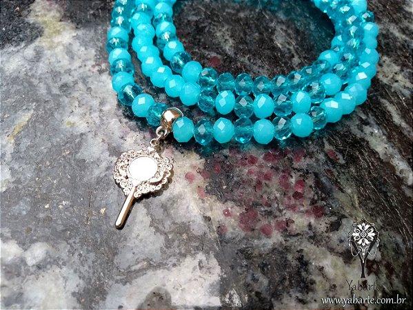 Fio de Contas Yemanjá | Cristal Azul