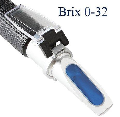 Refratômetro Brix 0-32% E Gravidade Específica De 1.000 A 1.120 P/ Cerveja Açúcar E Sucos - Vodex