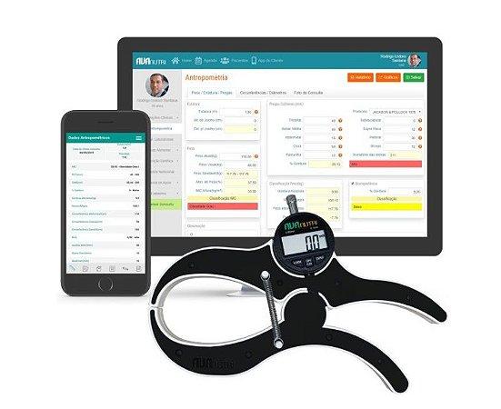 Plicômetro/adipômetro Científico Digital Anatômico Avanutri