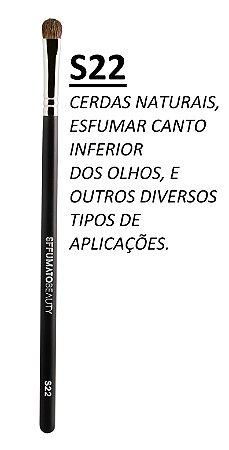 S22 - PINCEL DE PRECISÃO PARA ESFUMAR - CERDAS NATURAIS