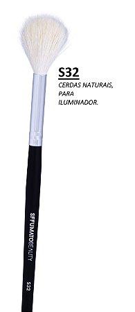 S32 - PINCEL SFFUMATO PARA ILUMINADOR - CERDAS NATURAIS