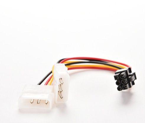 5 unidades  Cabo  Adaptador de alimentação para placas de vídeo IDE  para 6 Pinos