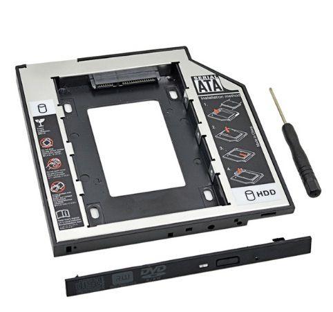 """Case para HD/SSD SATA 3.0  2.5 """"com LED para Laptop CD DVD ROM"""