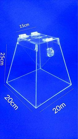 Urna Pirâmide de Acrílico 25 x 20 cm