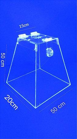Urna Pirâmide de Acrílico 50 x 28 cm