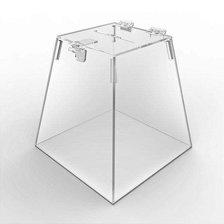 Urna de Acrílico Pirâmide - Linha Econômica 2mm