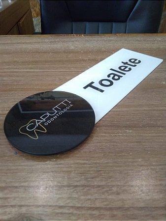 Placa Personalizada para identificação de porta 25 x 10 cm