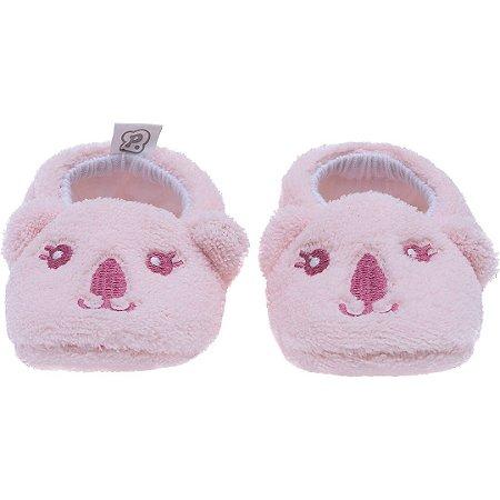 Pantufa Baby Coala Rosa Pimpolho (0-7m)