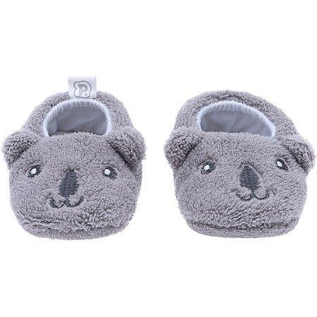 Pantufa Baby Coala Cinza Pimpolho (0-7m)