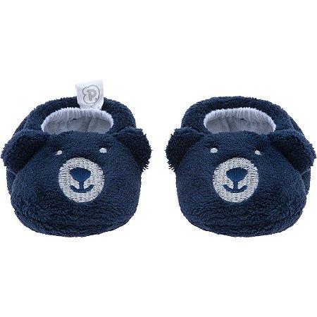 Pantufa Baby Urso Azul Marinho Pimpolho (0-7m)