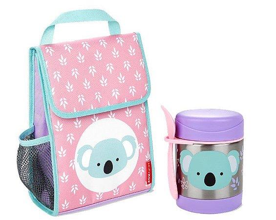 Kit Escolar Lancheira e Pote Térmico Skip Hop Koala