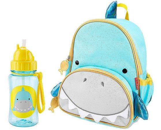 Kit Escolar Mochila Costas e Garrafinha Skip Hop Tubarão