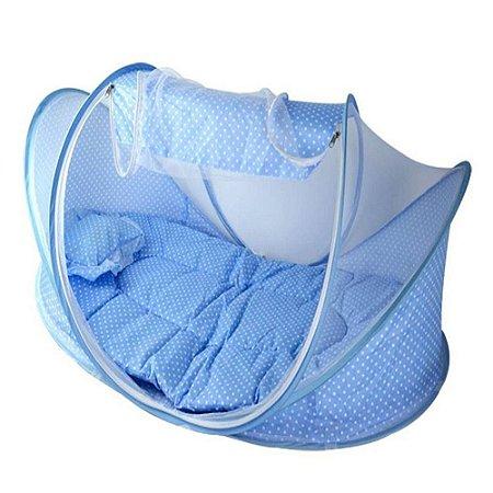 Berço Mosquiteiro Portátil Azul Happy Baby