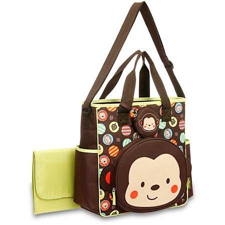 Bolsa Passeio Macaco Baby Boom 2 Peças