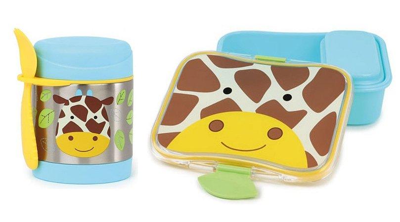 Kit Escolar Pote Térmico e Kit Lanche Skip Hop Girafa