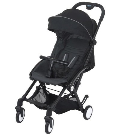Carrinho de Bebê Up Preto Burigotto - Multi Posições até 15kg
