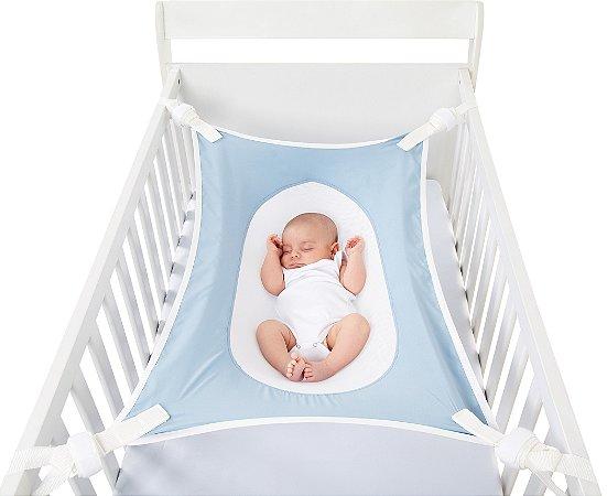 Cama Segura Primeiro Sono Redinha para Berço Azul Baby Pil (0m+)
